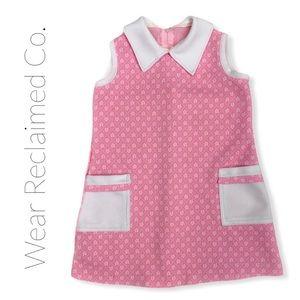 VINTAGE 1960s Toddler Go Go Dress - Size 2/3